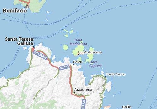 Mappa Arcipelago La Maddalena