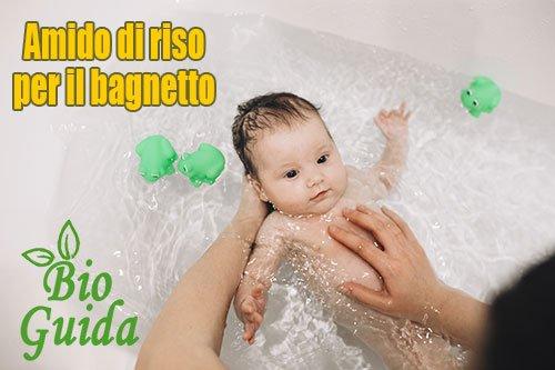 Amido di riso bagnetto neonati