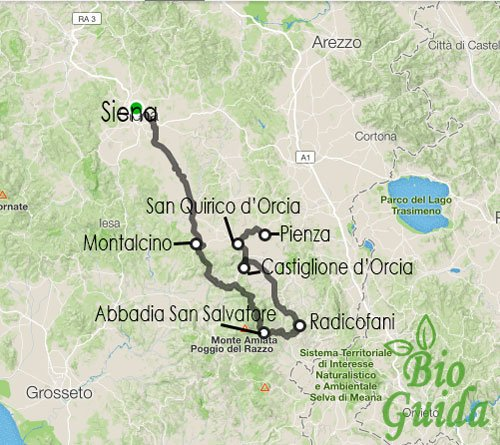 Valdorcia Mappa
